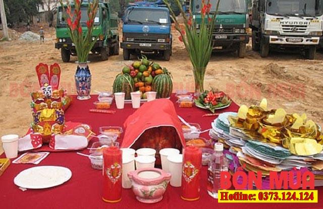 Mâm lễ cất nóc đầy đủ nhất theo phong hóa người Việt