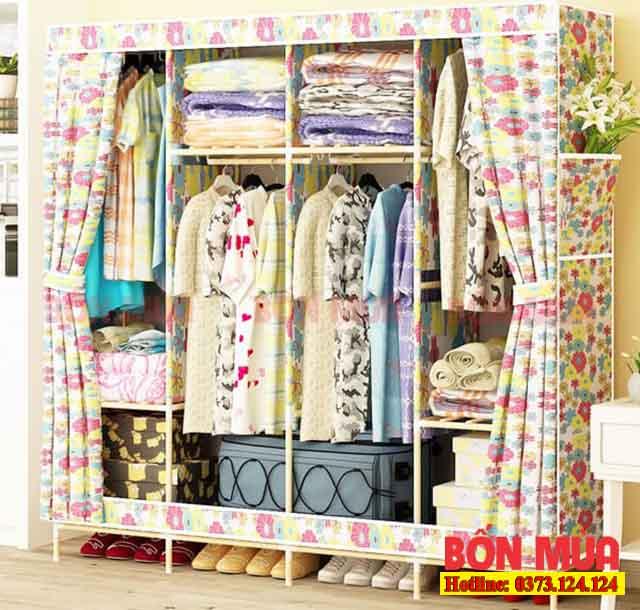 Tủ bạt, tủ gấp hoặc tủ vải là những loại phổ biến và phù hợp với sinh viên thuê trọ