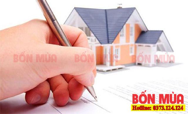 Viết giấy bán nhà tượng trưng cho người mượn tuổi