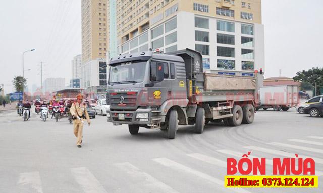 Mức xử phạt khi vi phạm giờ cấm xe tải Hà Nội